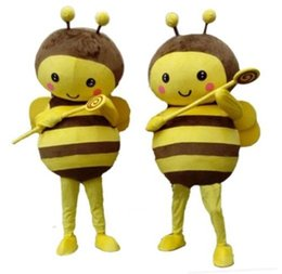 Wholesale Make Bee Costume - fly bee Mascot Costume fancy dress H6Y suit fancy dress Adult Suit 2Outfit All - UK Mascot Costume NEW