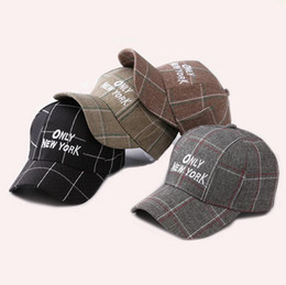 Wholesale Embroidery Only - 2018 Baseball Cap For Men Women Embroidery Letter Sun Hats Adjustable Snapback Hip Hop Dance Hat Summer Outdoor Caps ONLY NEW YORK 56785B5S