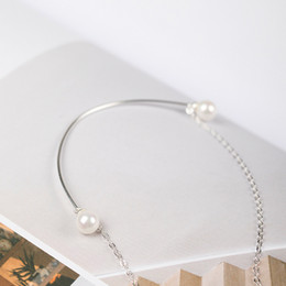 Wholesale Pearl Smile - Charms 925 sterling silver 6mm shell pearl pendant necklace short all-match smile fashion valentines day gift jewelry gift women chain china
