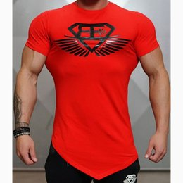 design shirts sell Promo Codes - Top Selling New Design Male Novelty Men T shirt Fashion Bodybuilding Body Engineers ensIrregular hem Short Sleeve T-shirt Tops