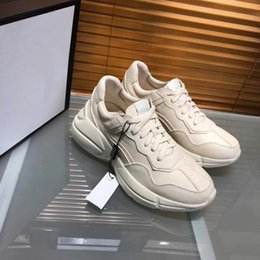 Wholesale New Style Flat Shoes - New man luxury designer Apollo sneaker with top quality Dad Shoes dirty style ace sneaker running shoes for man sale size 38-45