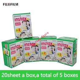 Caméras de tournage en Ligne-Fujifilm instax mini8 FILM 100 feuilles Fuji instsnt photo Photo autocollants pour mini9 7s 25 50 50 90 Instantané du papier photo