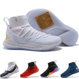 Wholesale Championship Boxing - (with box)2018 Stephen Curry 5 Basketball Shoes stephen Mens Curry 5 Championship MVP Finals Sports training Sneakers Run Shoes Size 40-46