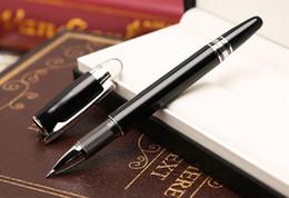Stylos de bureau en Ligne-Promotions - Haute qualité MT stylos MB-sw cristal Top Roller stylo à bille papeterie école fournitures de bureau de luxe écriture Fountain stylos à encre