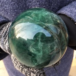 Wholesale Ball Room Dancing - Free Shipping Wholesale High Quality Natural Green Fluorite Sphere Rock Quartz Crystal Sphere Ball Healing Stones
