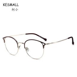 KESMALL Newest Alloy Glasses Frame High Quality Clear Lens Eyewear Men  Women Gold Color Eyeglasses Frames Marco De Lentes XN561 4db6901b9b0e