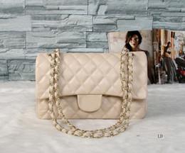 klassische taschen Rabatt Handtaschen Luxus Damen Handtaschen Vintage Creme Umhängetaschen für Frauen Klassische Leder Kette Tasche Cross Body und Umhängetaschen