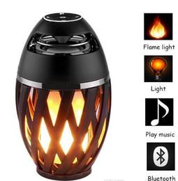 Canada Led Flamme Lumières avec Bluetooth Haut-Parleur Extérieur Portable Led Flamme Lampe Atmosphère Lampe Stéréo Haut-Parleur Son Étanche Partie De Danse Offre