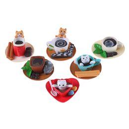 Gato decoración online-Novedad 1 unids Kawaii Postre Gato Casa de Muñecas En Miniatura Cocina Juguetes Accesorios de Decoración Del Hogar Decoración Artesanía Juguetes Pretendan jugar