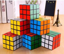 Wholesale educational gifts - high quality Puzzle cube 3x3x3cm Mini Magic Rubik Cube Game Rubik Learning Educational Game Rubik Cube Good Gift Toy Decompression toys