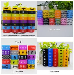 Wholesale Silicone Personalized - Colorful Custom silicone vape band beauty rubber ring Personalized silicone bracelet Welcome OEM Print your name logo text for ecig tank