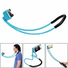 Wholesale Iphone Neck - 2018 Lazy Bracket Universal 360 Degree Rotation Flexible Hanging Phone Selfie Holder Neck Bed Mount Anti-skid Support For iPhone Android