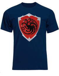 top nouvelle maison Promotion Maison Blackfyre Manteau Des Armoiries Targaryen Shield Inspiré Hommes T-shirt Tee Top AE56