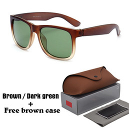shield leather Coupons - High quality Brand Sunglasses Men Women Brand Designer Plank frame Sun glasses Flash Mirror Lenses with Leather brown cases