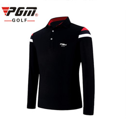 4d2018f6b6a PGM Golf Shirts For Men Cotton Turn Down Collar Thicker 2017 Winter New Top  Brand Sportswear Breathable Golf Full Shirts