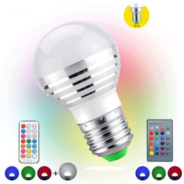 Wholesale 16 Candles - Wholesale-1Pcs AC85V-265V E27 E14 dimmer LED RGB Bulb Candle lamp 5W LED RGBW Spotlight magic Holiday lighting+IR Remote Control 16 colors