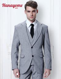 Wholesale Three Button Boys Suits - Tuxedo Tailcoat Men's Stage Jackets Mens Three Piece Suits Boys White Blazer Men Pants Slim Fit Modern Tuxedo Suit & Pants D300