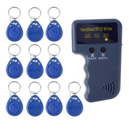 2019 cartes de programmation 125KHz enregistreur / copieur / lecteurs / duplicateur tenu dans la main de RFID avec le lecteur de cartes de contrôle d'accès de 10 étiquettes d'identification
