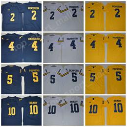 Wholesale Tom Brady Football Jerseys - NCAA Michigan Wolverines College 2 Charles Woodson Jersey Men 4 Jim Harbaugh 5 Jabrill Peppers 10 Tom Brady Football Jerseys Legend Stitched