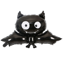 Wholesale Toy Bats Halloween - Halloween Bat Foil Balloons Animal Helium Balloon Festival Decorations Children Inflatable Toys Party Supplies Free Shipping ZA6961