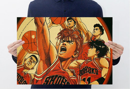 Wholesale japanese mural - Hot sale high quality Brown Poster Japanese cartoon animation CONAN Slam Dunk and Mural brown paper about 50*35cm