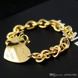 Fina jewerly famosa Marca pulseira de aço inoxidável 18 K banhado a ouro bracelete pulseira para homem mulher unisex pulseira para presente casal de