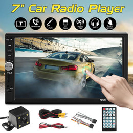 "Janelas receptoras on-line-2DIN 7"" Stereo Car HD Radio Player MP5 Bluetooth Touch Screen + câmera traseira MP5 player GPS grátis"
