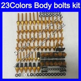 Wholesale lights for honda - Fairing bolts full screw kit For HONDA CBR600F4 99 00 99-00 CBR600 F4 CBR 600 F4 CBR 600F4 1999 2000 Body Nuts screws nut bolt kit 23Colors