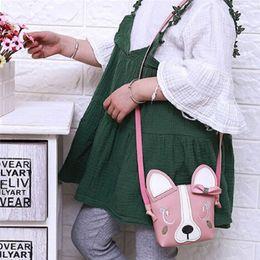 2019 животные киски Children Cartoon Messenger Bag Kids Girls Cute Animal Print Child Pussy Shoulder Bag Mini Gift дешево животные киски
