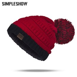 New Fashion Knitted Winter Hat Women Pompoms Skullies Beanies Men Female  Thick Winter Caps Girls Boys Warm Soft Hats Unisex Hat ca4140ebfe0e