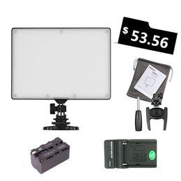 Venda Por Atacado yongnuo yn300 yn-300 ar levou luz de vídeo da câmera 3200-5500k com bateria decoded np-f750 + carregador para canon nikoncamcorder cheap video camcorder light de Fornecedores de luz de vídeo camcorder