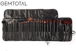 pinceles de maquillaje kabuki set Rebajas Profesional 32 unids Pinceles de Maquillaje Cosméticos Suaves Profesionales Maquillaje Pincel Conjunto Kabuki Fundación Pincel Conjunto de Herramientas de Belleza de Lápiz Labial