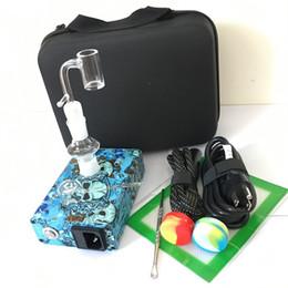 unha elétrica de quartzo Desconto Quartz Banger E prego Enail kits PID controlador de temperatura caixa de prego elétrica dab 14mm 18mm 2em1 com bobina aquecedor de 20mm