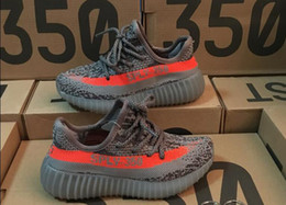 Wholesale Kanye West Kids - Kids Shoes Kanye West Season 3 SPLY 350 Boost V2 Sneakers Children Shoes Baby Boys Girls Athletic Shoes Black Red All White Zebra