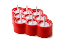 Nouveau Silicone Mini Glaçons Pop Moule À Glace Boule Lolly Maker Moules À Popsicle Avec 9 Autocollants Crèmes Glacées Fabricants Pour L'été wn516 ? partir de fabricateur