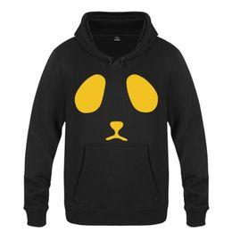 Негабаритные толстовки онлайн-Mens Hoodies Panda Printed Hoodie Men Anime Fleece Long Sleeve Sweatshirts Casual Winter Oversized Pullover Man's Gown Moletom