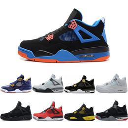 Wholesale toro bravo shoes - 2018 4 Basketball Shoes men 4s Black cat bred cavs Cement Oreo Pure Money Royalty Toro Bravo Mars Blackmon sports shoes sneakers
