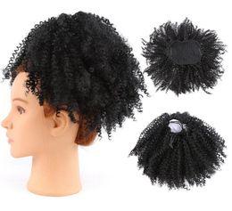 Hairpieces de rabo de cavalo on-line-Afro Pufftail Extensões de Rabo de Cavalo para As Mulheres Negras Kinky Curly Com Cordão Rabo de Cabelo Hairpieces Grampo no Rabo de Cavalo