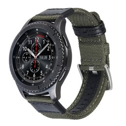 Wholesale 22mm Nylon - V-MORO 22mm Woven Nylon Watch Strap For Gear S3 Band Replacement Bracelet For Gear S3 Classic Frontier Smart Watch