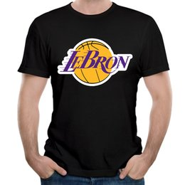 Wholesale lebron t shirts - Novelty Lebron James Lakers T Shirt 23 James Man Round Collar Stylish 3D Print T Shirt Streetwear Homm Tee Shirt Plus Size
