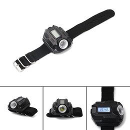 Wholesale wrist watch led flashlight - Led Wrist Lights Hand Wear Strong Light Flashlight Display Screen Electronic Functional Watches Lamp Outdoor Equipment High Quality 32jy gg