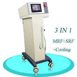 Thermage à fréquence rf en Ligne-professionnel partiel de thermage rf Microneedle radio fréquence rf facial refroidissement chaleur poignée rf fréquence face lift machine