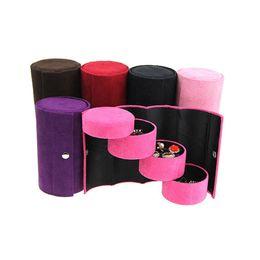 Sacchetti di stoccaggio di gioielli online-Piccole scatole di gioielli in pelle, portagioie, anelli, orecchini, staffe, scatole di immagazzinaggio, borse portatili e scatole di rifinitura.