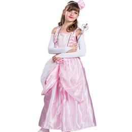 Costumi bellissimi delle ragazze online-Vestito da ragazza rosa da ballo Costume da principessa abito da sera