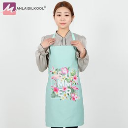 Wholesale beautiful design homes - Fashion Beautiful Creative Design Women Aprons Home Kitchen Cooking Bib Apron Flower Style Adult Apron Free Shipping Delantal