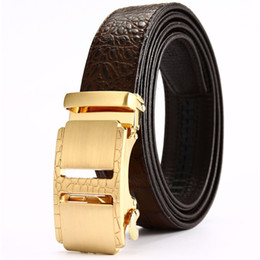 55d2a886133 2018 enuine Leather Belt Men Luxury Crocodile Leather Belt Men Business  Casual Fashion Cinto Masculino cheap cinto belts