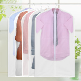 Wholesale Fabric For Jacket - New Translucent PEVA Clothes Dust Cover Suit Cover Washable Clothing Storage Bags For Suit Overcoat Jacket High-quality