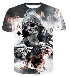 647db9a29c8 Men T-Shirt 3D Printing T Men s Short Sleeve Shirts Summer Funny Man  Compression Shirt Fitness Skull Body T-Shirt Tops