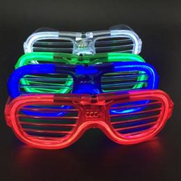 рождественские солнечные очки Скидка Светодиодные очки мигающие жалюзи форма очки Флэш-очки Солнцезащитные очки танцы праздничные атрибуты фестиваль Рождественские украшения HQ032