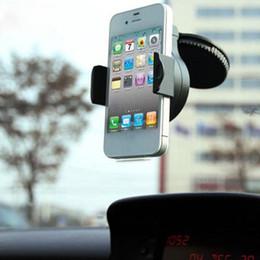Универсальный держатель держателя чашки gps онлайн-Мини универсальный 360 присоска мобильный автомобиль поддержка лобовое стекло автомобиля держатель кронштейн для iPhone 6/5/4 телефоны примечание 4 GPS W_C